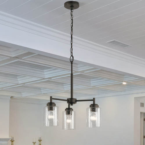 Kichler Lighting Seeded Glass Mini-Chandelier Olde Bronze Winslow by Kichler Lighting 44029OZ