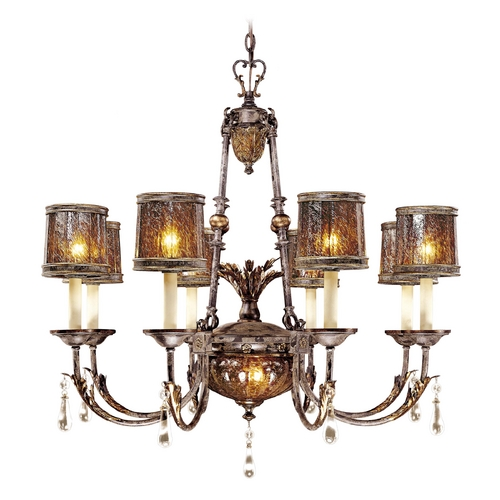 Metropolitan Lighting Chandelier with Brown Glass in Sanguesa Patina Finish N6078-194