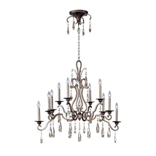 Maxim Lighting Crystal Chandelier in Heritage Finish 14307HR