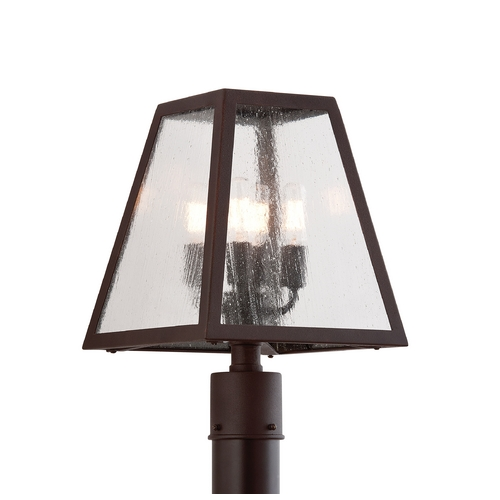 Troy Lighting Post Light with Clear Glass in River Valley Rust Finish P3435-C