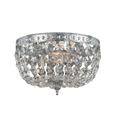 Crystorama Lighting Crystal Flushmount Light in Chrome Finish 710-CH-CL-MWP