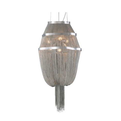 PLC Lighting Modern Pendant Light in Satin Nickel Finish 70015 SN