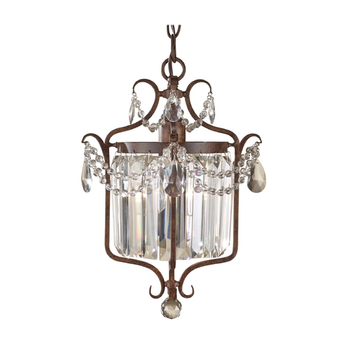 Feiss Lighting Crystal Chandelier in Mocha Bronze Finish F2473/1MBZ