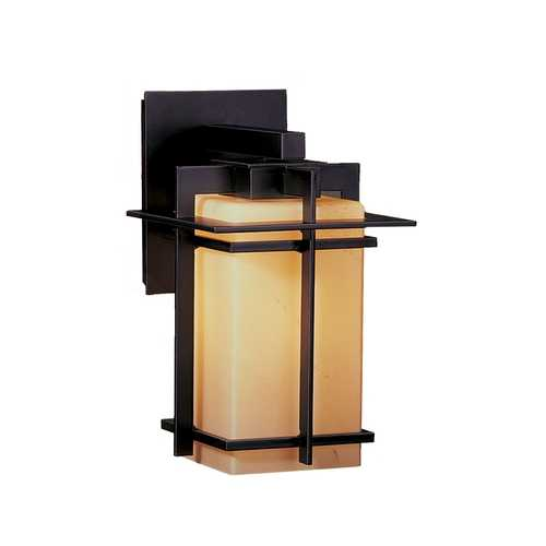 Hubbardton Forge Lighting Outdoor Wall Light with Iron Finish - 11.4-Inches Tall 306007-20-G111