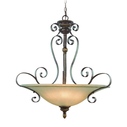 Jeremiah Lighting Jeremiah Kingsley Century Bronze Pendant Light with Bowl / Dome Shade 26544-CB