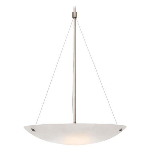 Access Lighting Access Lighting Noya Brushed Steel Pendant Light 23073-BS/WHT