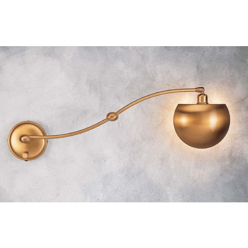 Holtkoetter Lighting Holtkoetter Swing Arm Lamp in Antique Brass Finish 523 AB