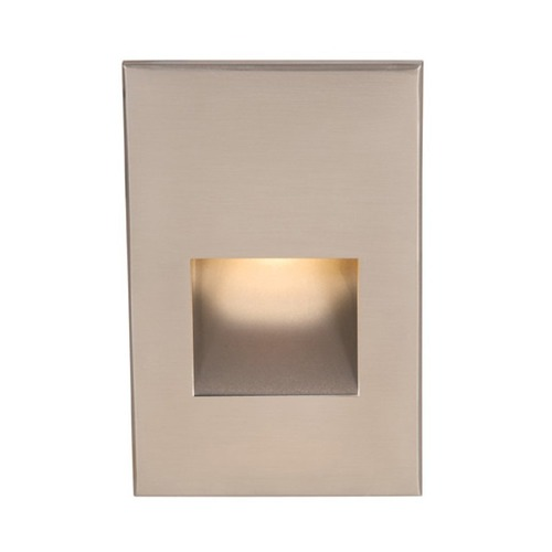 WAC Lighting WAC Lighting Brushed Nickel LED Recessed Step Light with Amber LED WL-LED200-AM-BN