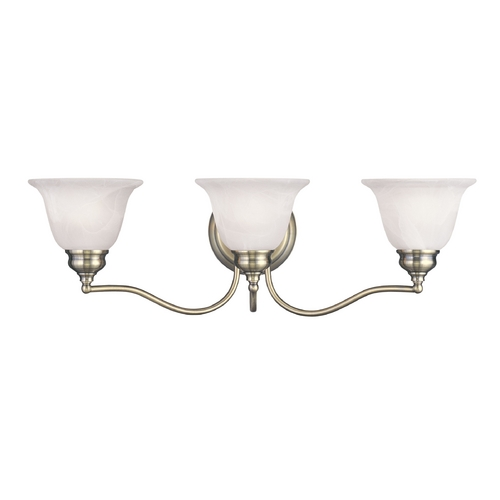 Livex Lighting Livex Lighting Essex Antique Brass Bathroom Light 1353-01