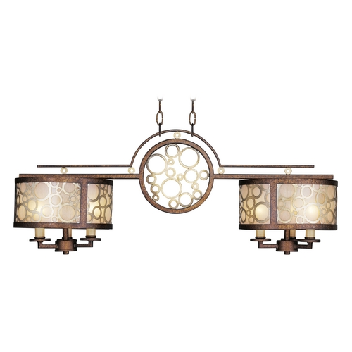 Livex Lighting Livex Lighting Avalon Palacial Bronze with Gilded Accents Billiard Light with Drum Shade 8672-64
