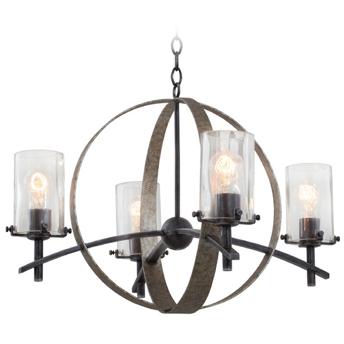 Kalco Lighting Kalco Lighting Irvine Vintage Iron Chandelier 7097VI
