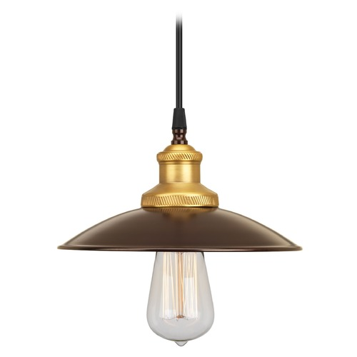 Progress Lighting Progress Lighting Archives Antique Bronze Mini-Pendant Light with Conical Shade P5161-20