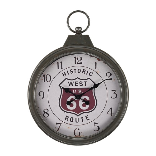 Sterling Lighting Fob Style Route 66 Clock 138-175