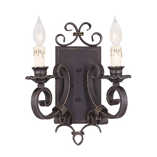 Savoy House Savoy House Forged Black Sconce 9-4318-2-17