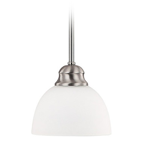 Capital Lighting Capital Lighting Stanton Brushed Nickel Mini-Pendant Light with Bowl / Dome Shade 4031BN-212
