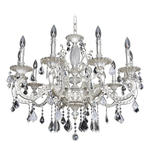 Allegri Lighting Casella 10 Light Crystal Chandelier 024753-017-FR001