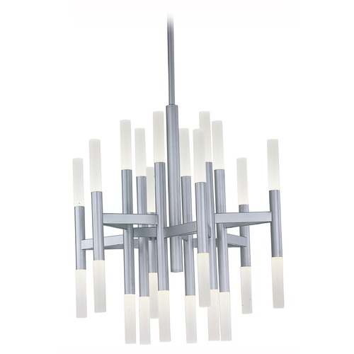 Maxim Lighting Maxim Lighting Pinnacle LED Metallic Silver LED Chandelier 39758FTMS
