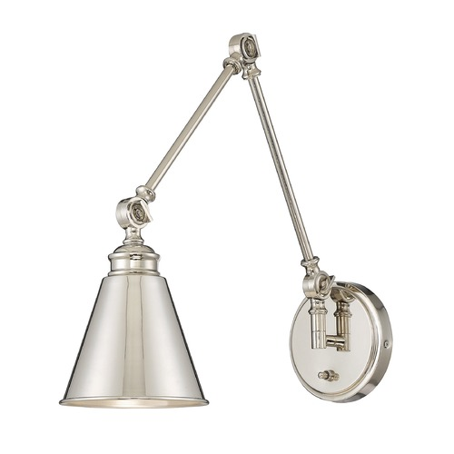 Savoy House Savoy House Lighting Morland Satin Nickel Pin-Up Lamp 9-961CP-1-SN