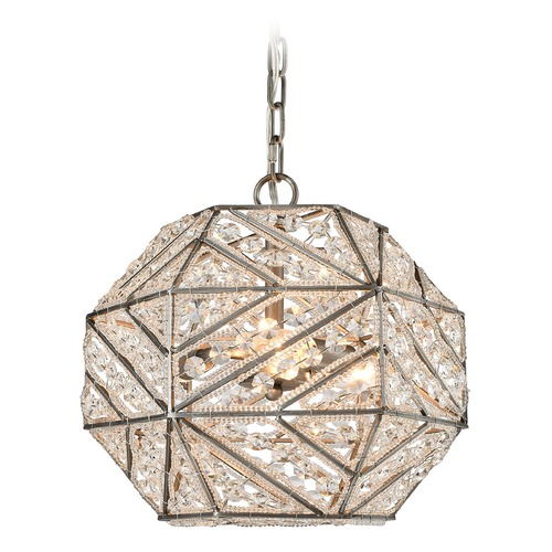 Elk Lighting Elk Lighting Constructs Weathered Zinc Pendant Light with Hexagon Shade 11836/3