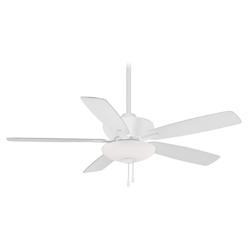 Minka Aire Minka Aire Minute Flat White LED Ceiling Fan with Light F553L-WHF