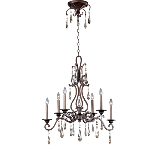 Maxim Lighting Crystal Chandelier in Heritage Finish 14308HR