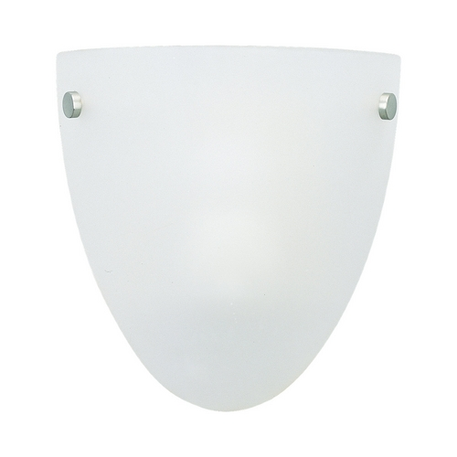 Sea Gull Lighting Modern Sconce Wall Light with White Glass in Multiple Finishes Finish 49036BLE-999