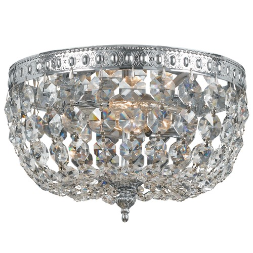 Crystorama Lighting Crystal Flushmount Light in Chrome Finish 710-CH-CL-S