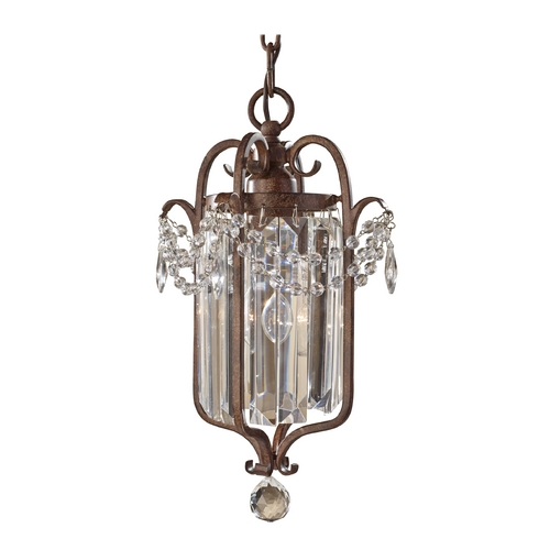 Feiss Lighting Crystal Chandelier in Mocha Bronze Finish F2474/1MBZ