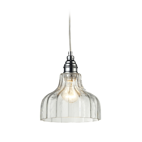 Elk Lighting Mini-Pendant Light with Clear Glass 46018/1