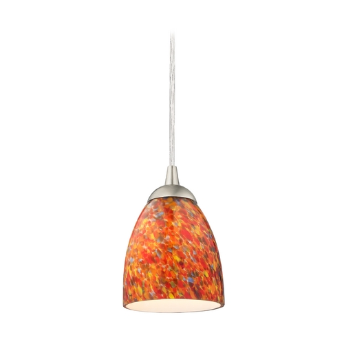 Design Classics Lighting Modern Mini-Pendant Light with Art Glass 582-09 GL1012MB