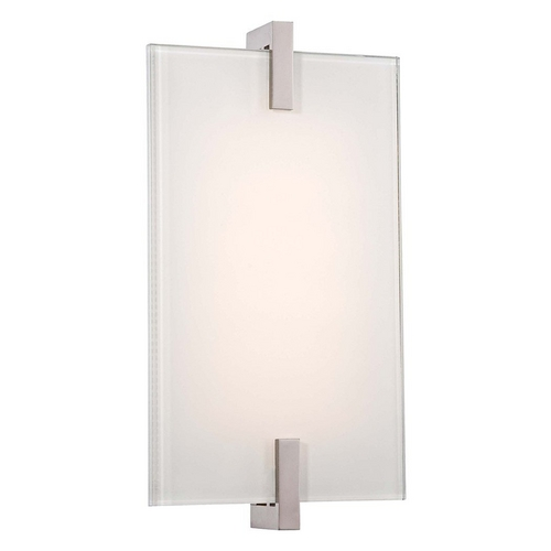 George Kovacs Lighting Modern LED Sconce Wall Light in Polished Nickel Finish P1110-613-L