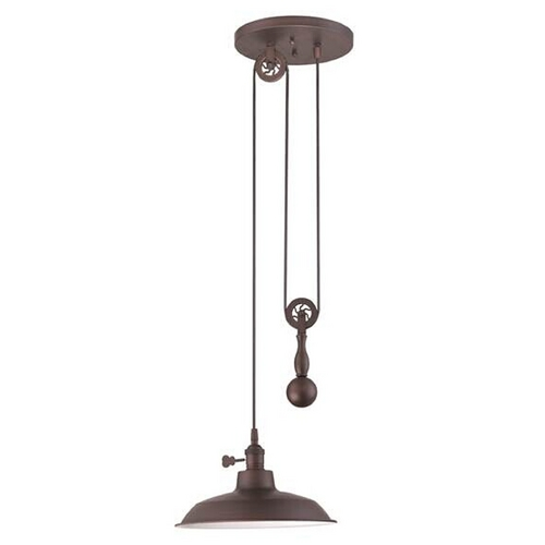 Jeremiah Lighting Jeremiah Lighting Adjustable Antique Bronze Pendant Light P400-ABZ