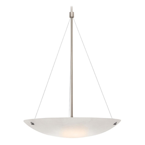 Access Lighting Access Lighting Noya Brushed Steel Pendant Light 23074-BS/WHT