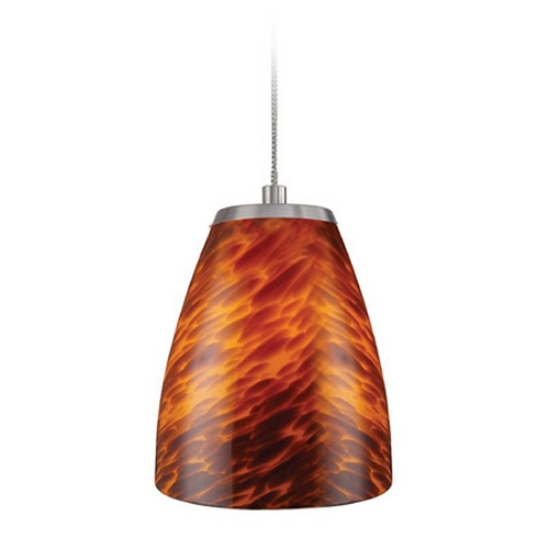 Elk Lighting Low Voltage LED Mini-Pendant Light with Brown Glass PF1000/1-LED-BN-ES