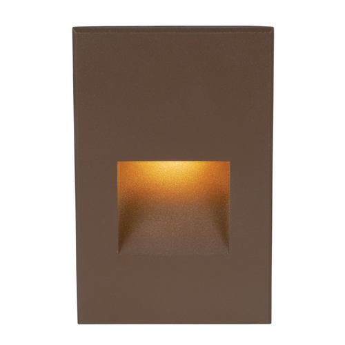 WAC Lighting WAC Lighting Bronze LED Recessed Step Light with Amber LED WL-LED200-AM-BZ