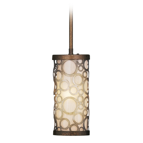 Livex Lighting Livex Lighting Avalon Palacial Bronze with Gilded Accents Mini-Pendant Light with Cylindrical Shade 8670-64