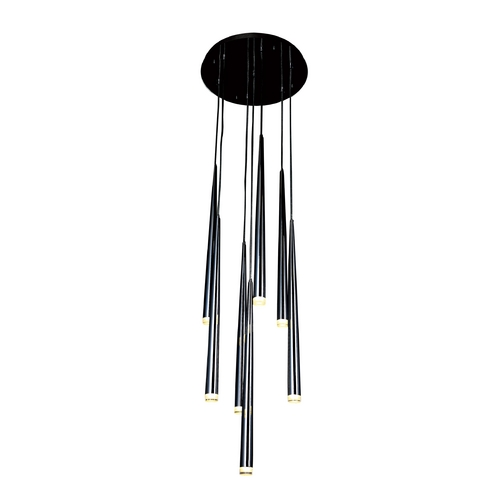 Avenue Lighting Avenue Lighting Highland Avenue Black Chrome LED Multi-Light Pendant HF2107-BLK