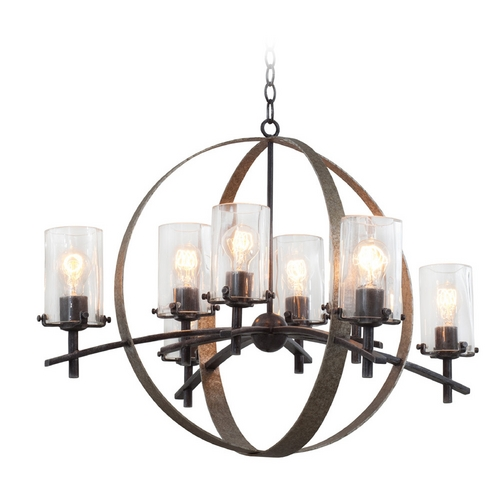 Kalco Lighting Kalco Lighting Irvine Vintage Iron Chandelier 7098VI