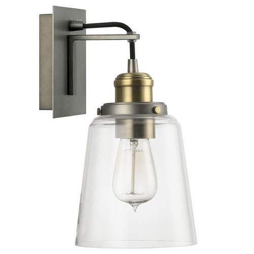 Capital Lighting Capital Lighting Graphite with Aged Brass Sconce 3711GA-135