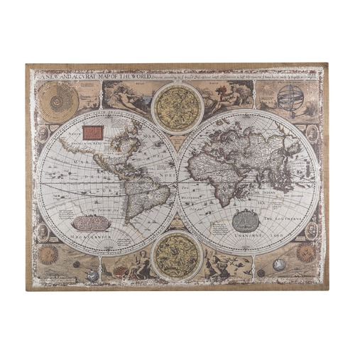 Sterling Lighting Antique Style World Map Wall Art 138-178