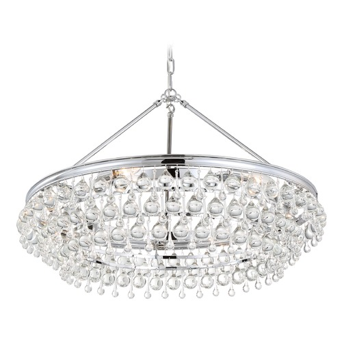 Crystorama Lighting Crystorama Lighting Calypso Polished Chrome Pendant Light 275-CH