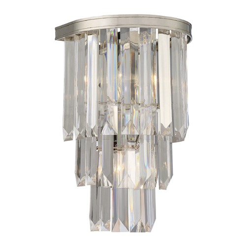 Savoy House Savoy House Lighting Tierney Polished Nickel Sconce 9-9804-2-109