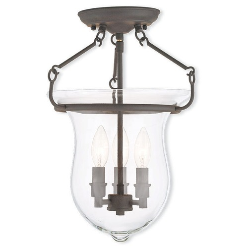 Livex Lighting Livex Lighting Canterbury Bronze Semi-Flushmount Light 50295-07