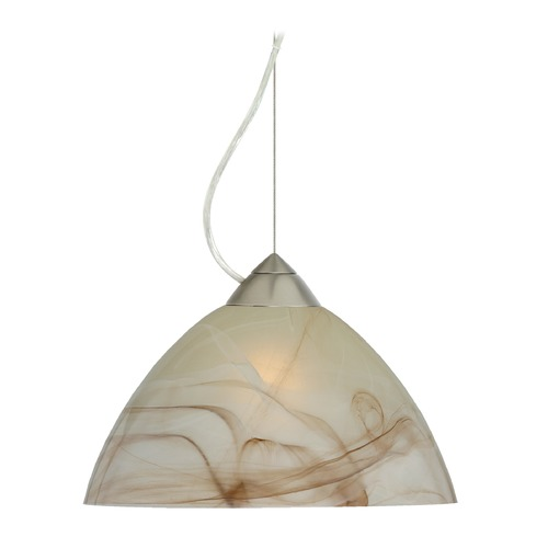 Besa Lighting Besa Lighting Tessa Satin Nickel LED Pendant Light with Bell Shade 1KX-420183-LED-SN