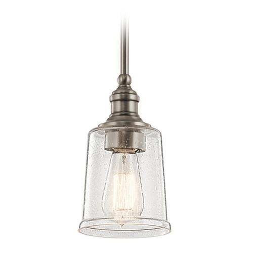 Foyer Lighting Replacement Glass : Seeded glass mini pendant light pewter kichler lighting