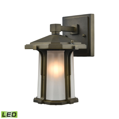 Elk Lighting Elk Lighting Brighton Smoked Bronze LED Outdoor Wall Light 87090/1-LED