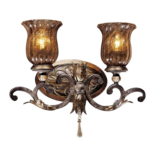 Metropolitan Lighting Bathroom Light with Brown Glass in Sanguesa Patina Finish N6072-194