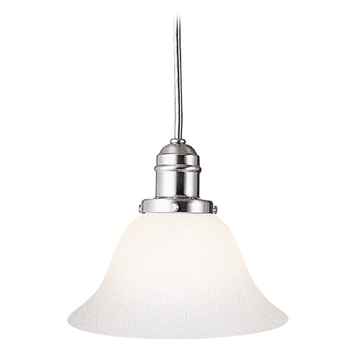 Hudson Valley Lighting Mini-Pendant Light with White Glass 3101-SN-415M