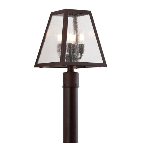 Troy Lighting Post Light with Clear Glass in River Valley Rust Finish PCD3435-C