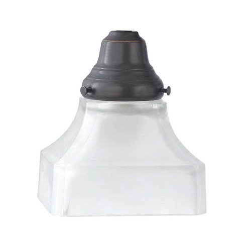 Design Classics Lighting Clear With Inside Frosted Glass Shade - 2-1/8-Inch Fitter Opening G9415